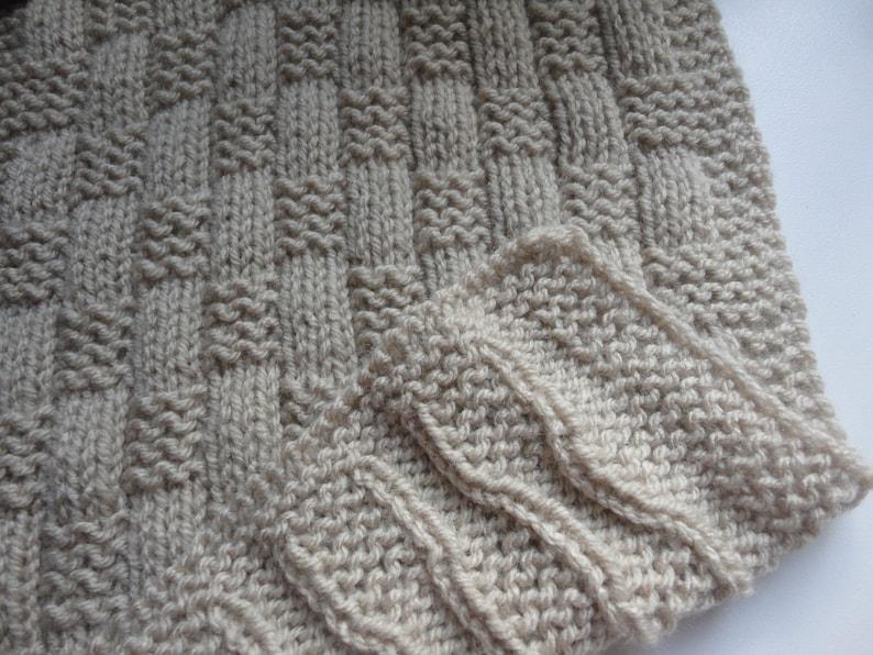 Easy Beginner Knit Basket Weave Baby Blanket PDF Pattern ...