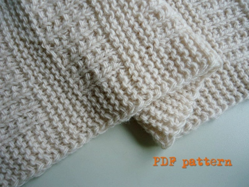 Easy hand knit blanket / afghan / throw / quick knitting / image 0