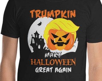 e7468c20f Trumpkin Shirt Make Halloween Great Again T-Shirt Funny Trump Halloween  Party Adult Unisex Tshirt