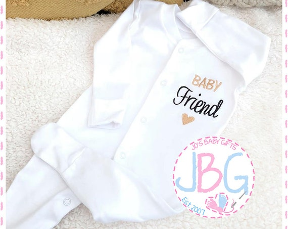 Personalised Baby Gift, baby grow Sleepsuit, unisex baby gift, embroidered onsie, baby shower, christening gift, baby clothes