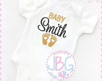 Personalized baby etsy personalised baby unisex vest embroidered onesie pregnancy announcement fun gift for a new baby or baby shower negle Choice Image