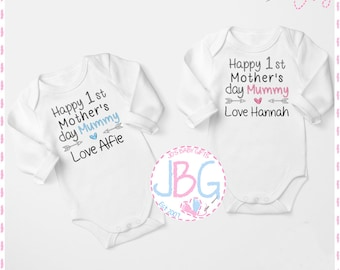Mothers Day Baby Bodysuit Blue Baby Vest Gift 102 No One Loves Me Like Mummy
