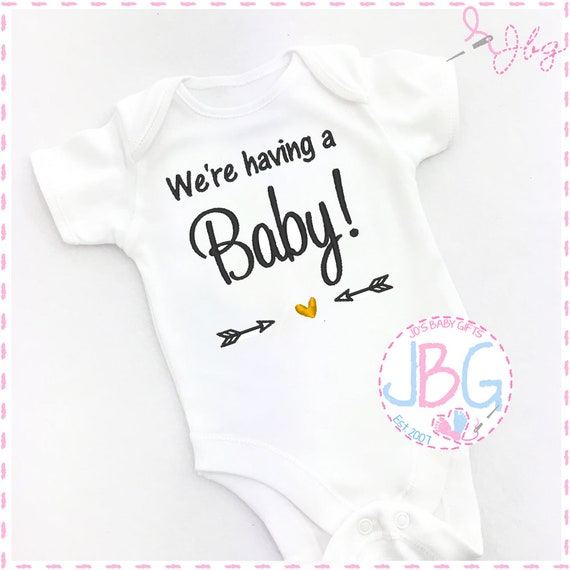 Pregnancy Announcement Vest / Onsie - Pregnancy reveal Prop - Baby Grow - Having a baby!