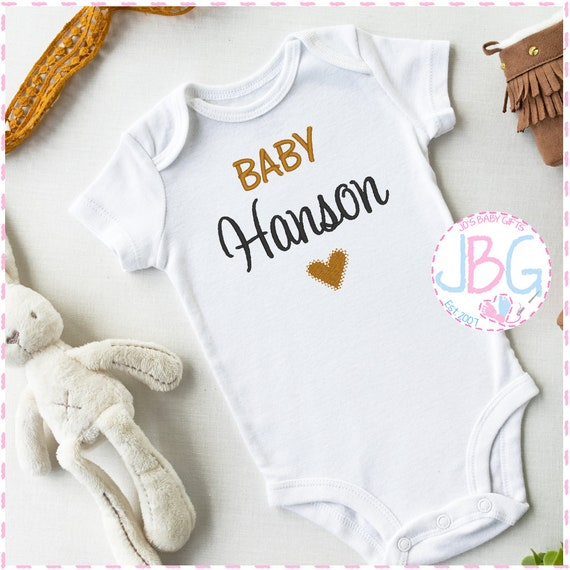 Personalised Unisex Baby Vest  - Embroidered bodysuit - Pregnancy Announcement - New Baby gift - Baby Shower Gift