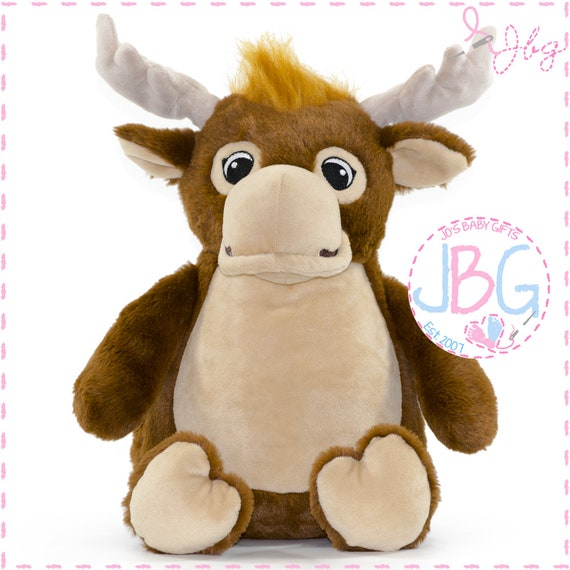 Cubbies Moose, Personalised Embroidered Moose Teddy Bear, Personalised Stuffie, Great birthday gift, Signature Range