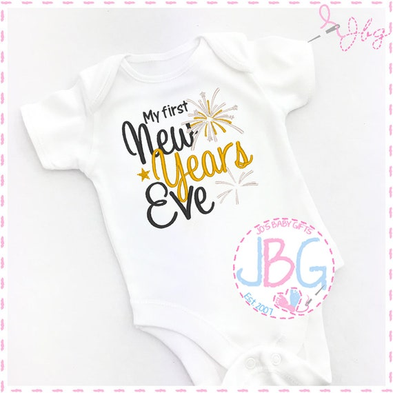 Baby Vest/Onsie '1st New Years Eve' Embroidered Design, Perfect Keepsake Gift, Christmas Gift, baby grow
