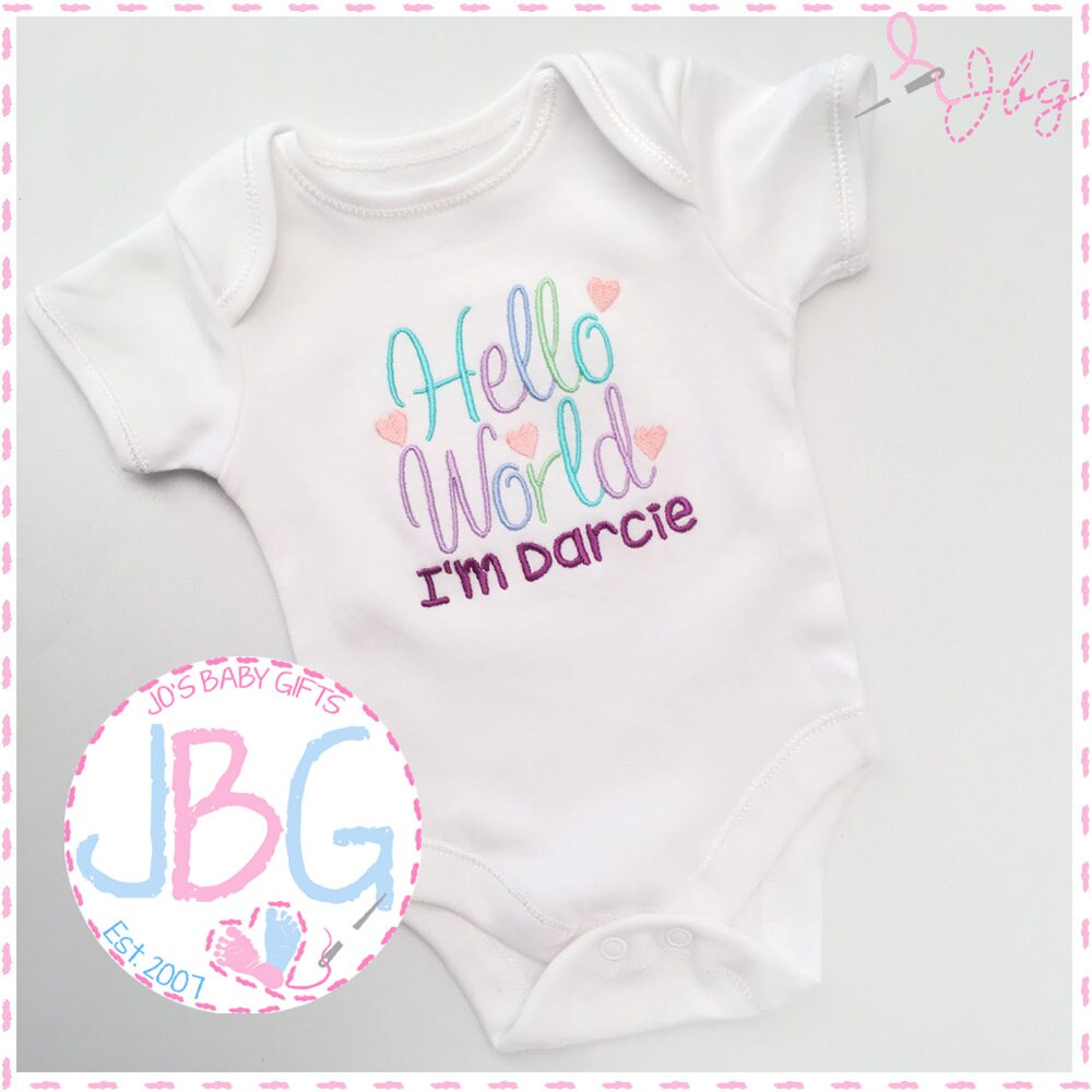 Embroidered Baby Clothes Nf3W