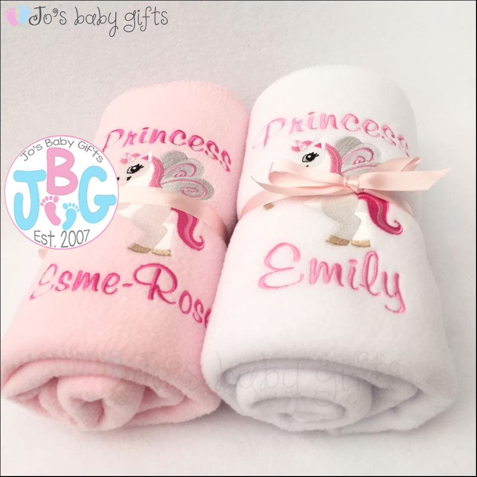 718fea4eec Personalised Unicorn baby blanket