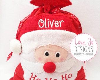 1 Santa Sack, Personalised Santa Sack, Christmas Sack, Father christmas, Embroidered Name