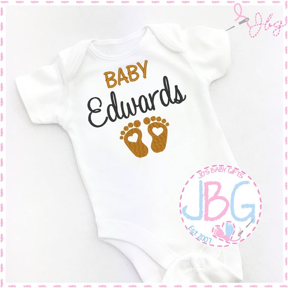 Personalised Baby Unisex Vest, Embroidered bodysuit, Pregnancy announcement, Fun gift for a new baby, or baby shower