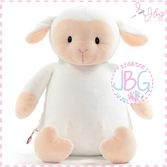 Cubbies Plush Lamb, Personalised Embroidered Giraffe Teddy Bear, Personalised Stuffie, Great birthday gift, Signature Range