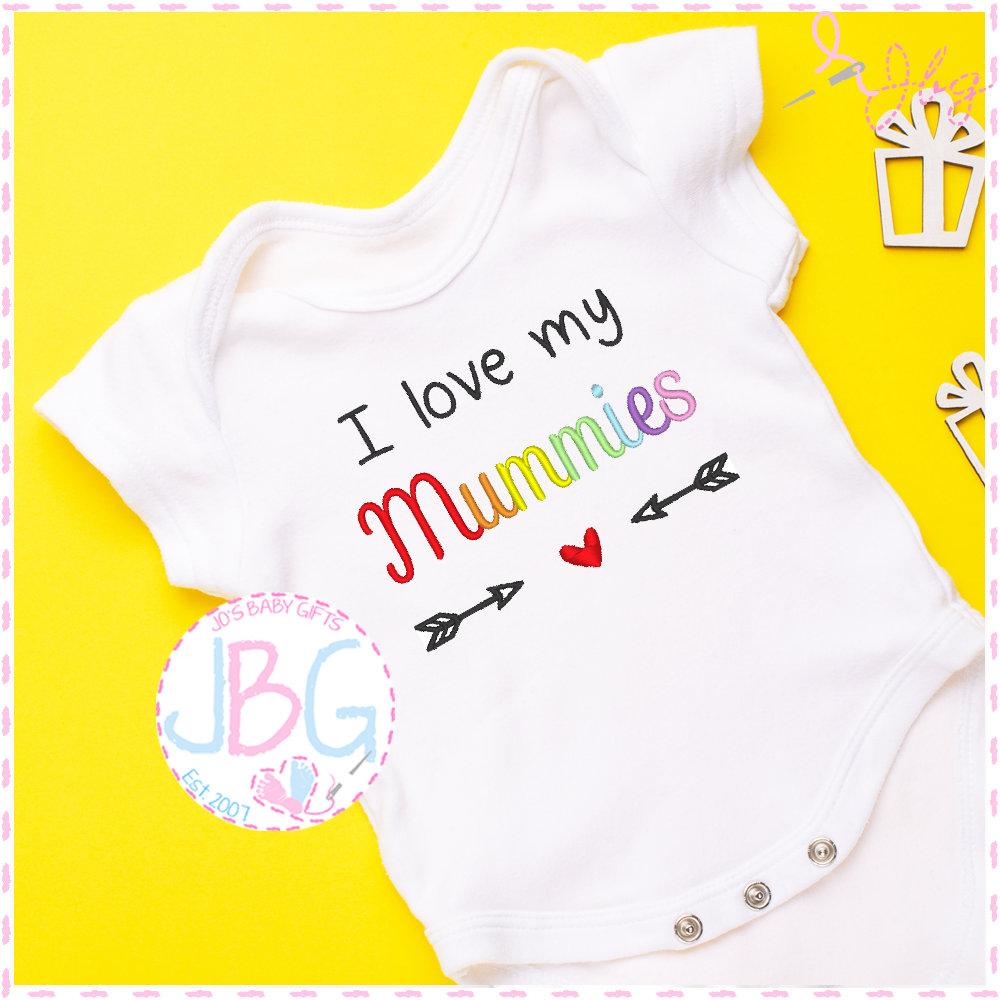 two mummies Personalised Baby//Toddler Vest Bodysuit//Gay pride