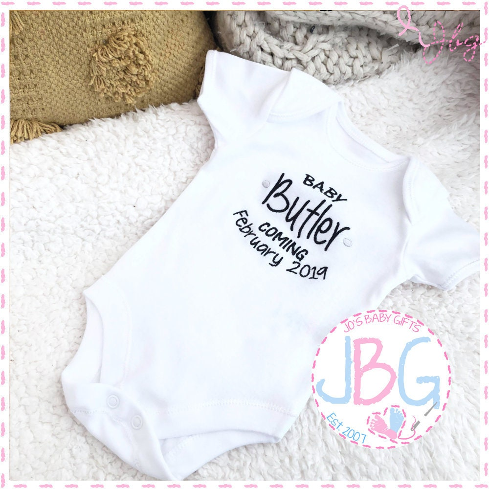 Personalised Baby Surname Baby Romper Hospital Outfit New Baby Gifts