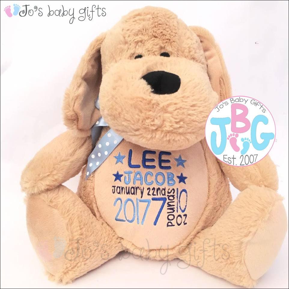 Personalised Dog Teddy Bear Custom Teddy Embroidered