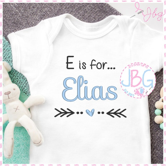 is for... Personalised Embroidered Baby Boys Vest - Bodysuit - New Baby Gift - Unique Stitched design - Baby Shower - Christening Gift