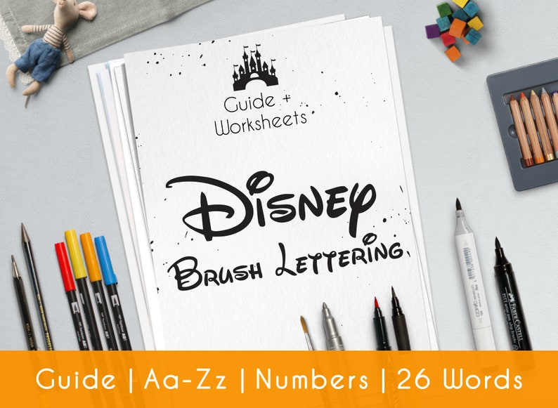picture relating to Lettering Printable named Disney calligraphy, find out revolutionary Hand Lettering. Printable worksheets, in depth direct for Newbies