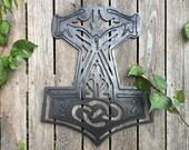 Odins Hammer, Norse, Decor, Thor, Vikings, Wall art, Gift , wood, Wood Wall Art , Protection
