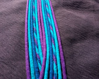 Wool Dreadlock Extensions | Made to Order | Thin DE Dreads | Festival Hair | Accessories | Blue Purple / Hair Wrap /
