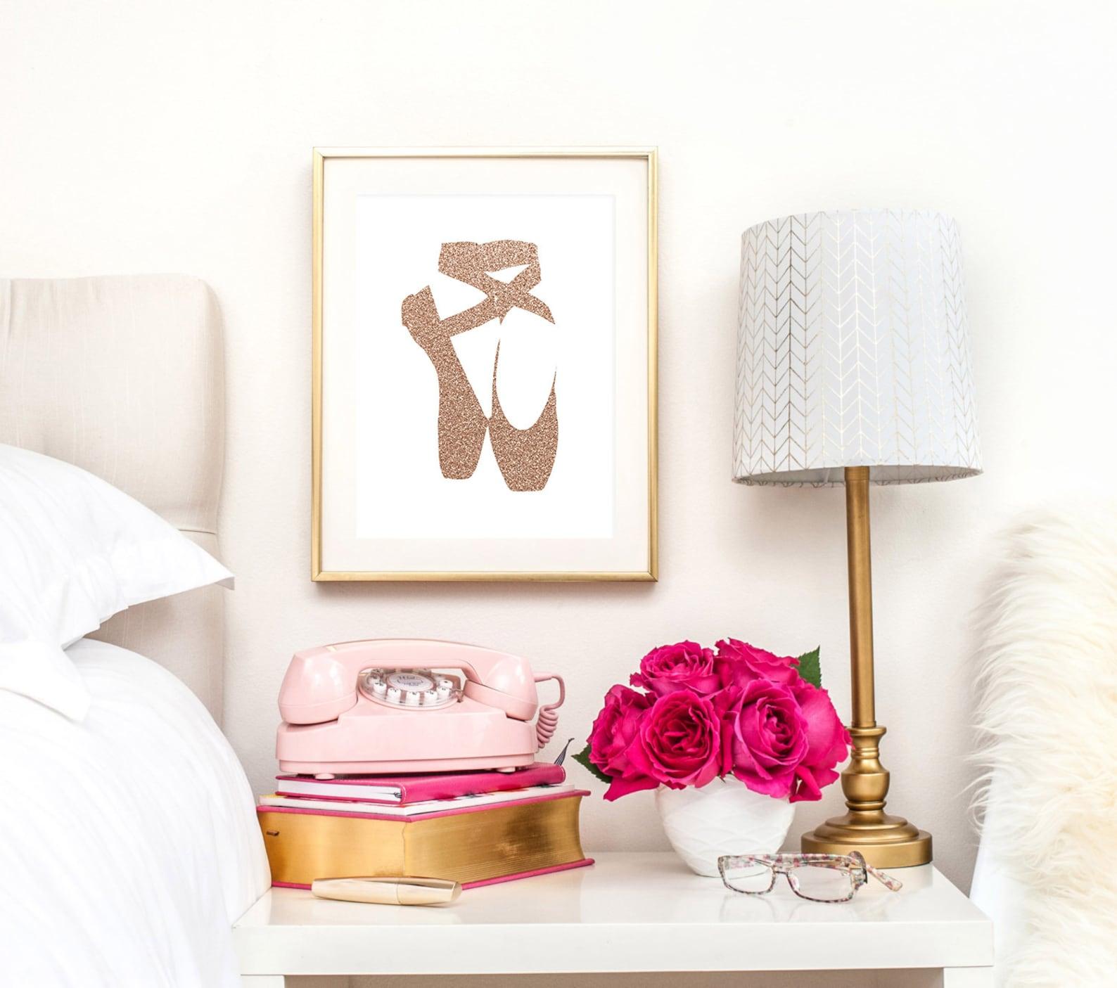 teen girl room decor, ballet shoes, ballerina, ballet print, ballet poster, girl room print, girl nursery, printable wall art, r