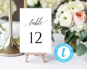 Table Numbers Printable 1-40 Table Numbers Wedding Table Numbers Wedding Seating Table Sign DIY Table Numbers Calligraphy Instant Download