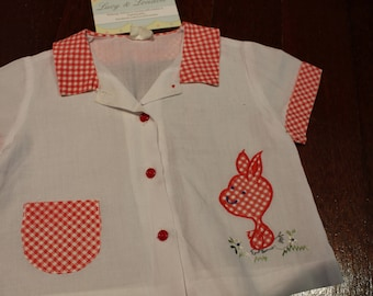 Lyn Maid Red Check Shirt