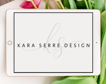 Custom Pre-made Cursive Logo   Handwritten Script   Simple and Minimalist   Business Brand Package   Marketing Materials   SVG and PNG