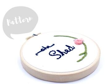 She Shed Embroidery Pattern   PDF Download   Beginner DIY   Modern Hand Embroidery Pattern   Digital Pattern   Hoop Art