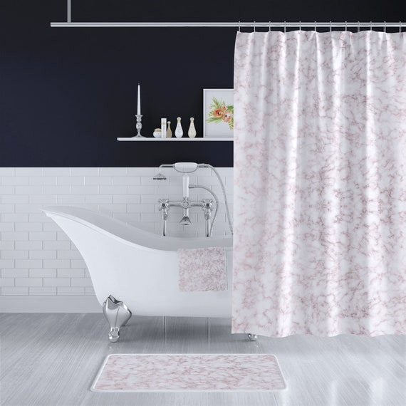 Rose Memory Style Design Bathroom Waterproof Fabric Custom Shower Curtain