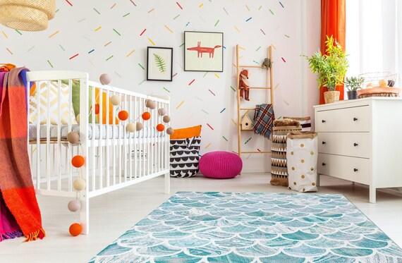 Maßstab Meerjungfrau Petrol Blau Kinderzimmer Teppich Marmor Muster Teppich Muster Teppich 4 X 6 2 X 3 5 X 7 3 X 5