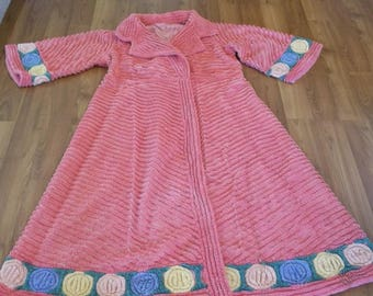d0dbda3a67 Chenille Robe Vintage Lollipop Bathrobe