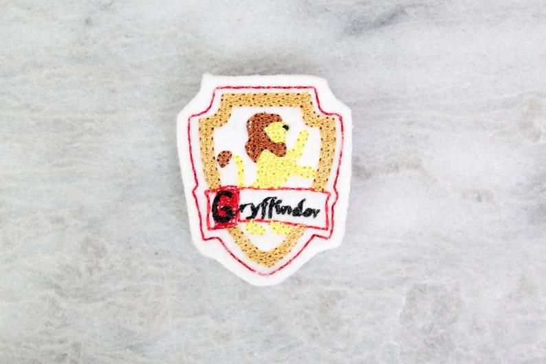 Feltie Embroidery Design Lion Wizard School Crest Feltie Pattern Magic Design Digital Embroidery File Embroidery File