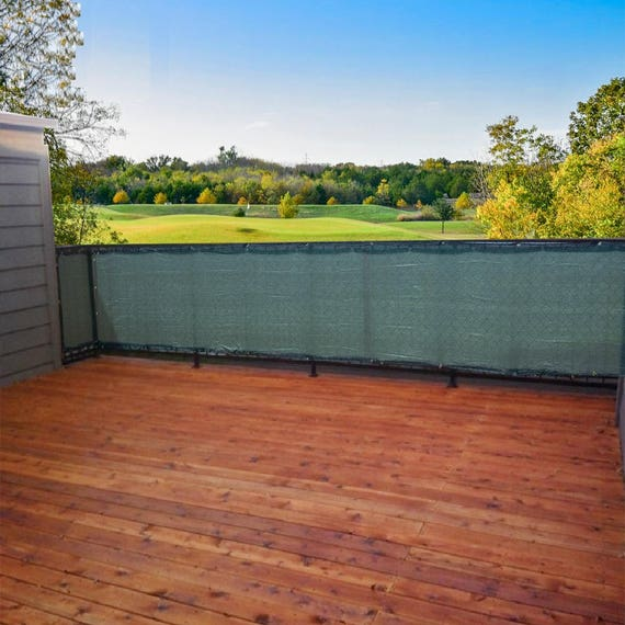 Custom Sized Privacy Screen Mesh Patio Deck Balcony Pool Etsy