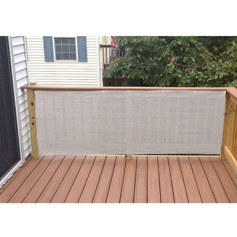 Custom Sized Privacy Screen For Railing Patio Deck Balcony Etsy
