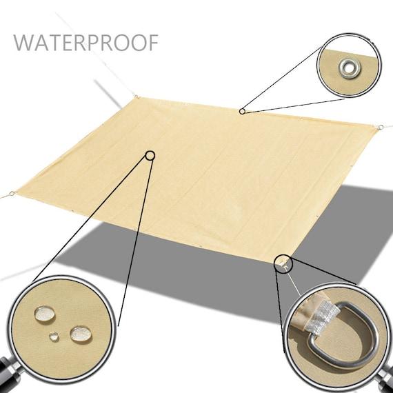 Custom Sizes Straight Edge Waterproof Woven Sun Shade Sail Etsy