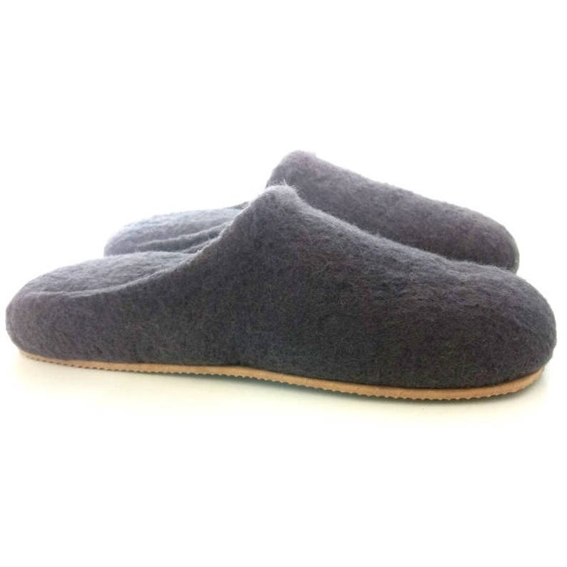 e2d3cb8f9b75 Gray women wool slippers Very soft slippers Women s Shoes
