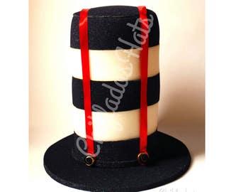 Tweedledum Tweedledee Alice in Wonderland Hat Disney Costume Party Top Hat