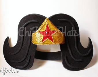 Wonder Woman  Superhero Party Top Hat Wig Comics