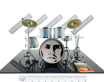 Mini Drums Kit Roger Taylor Queen Fan Tribute Miniature Etsy