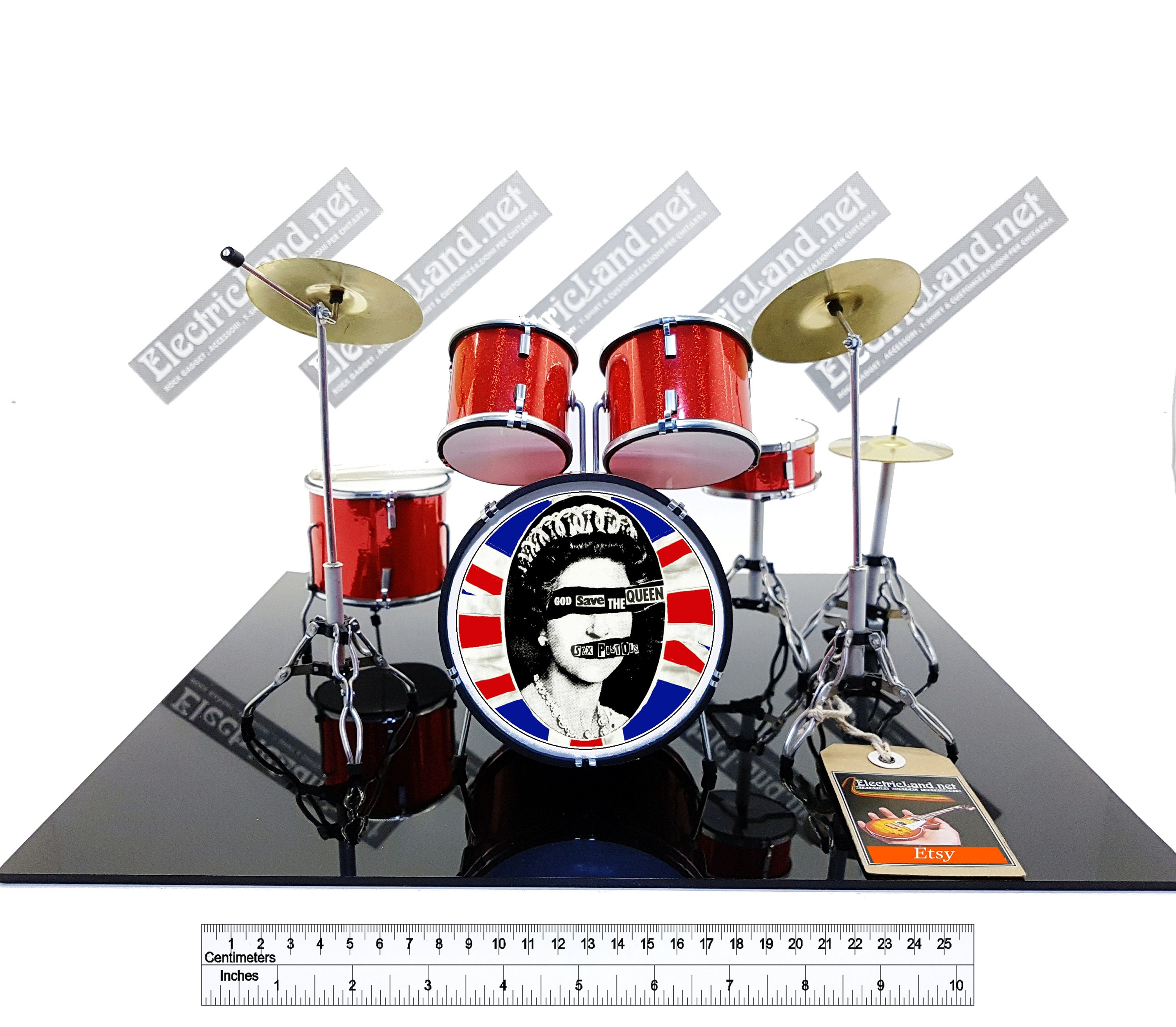 mini Drums kit sex pistols god save the queen miniature  b814c61a9