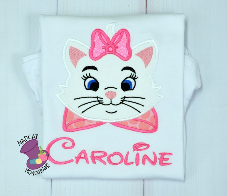 912b941e Marie Aristocats Inspired Mouse-Character Shirt Applique   Etsy