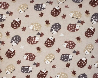 Adorable Little Brown and Gray Hedgehog Quillow/Blanket/Throw/Travel Quillow