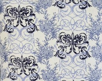 Beautiful blue shades of swirls and flowers Quillow extra long/Blanket/Throw/Travel Quillow