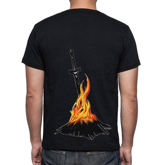 904a3358 Dark Souls t-shirt Bonfire Sword Game t-shirt Primordial Flame | Etsy