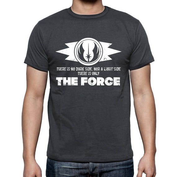 Star Wars T Shirt Grey Jedi Code Print Sith Jedi Symbol The Etsy