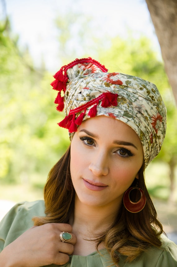 Tichel Head Scarf Head Wrap Turban Woman Headbands Etsy