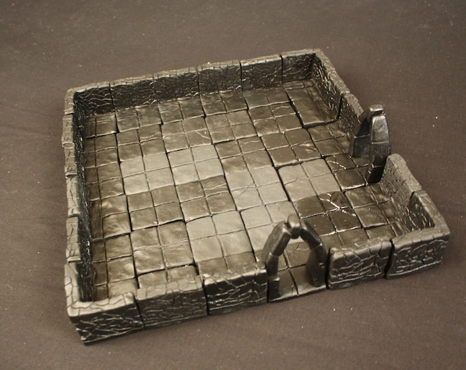 Large Dungeon Magnetized Tile Set (Primed Black) with Hard Corners