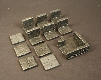 Room Extension Dungeon Magnetized Tile Set (Primed Black)