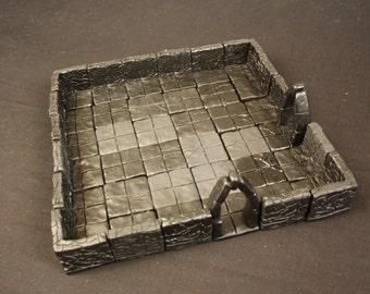 Large Dungeon Magnetized Tile Set (Primed Black) with Hard Corners