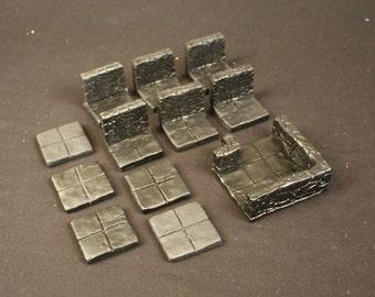 Room Extension Dungeon Magnetized Tile Set (Primed Black)