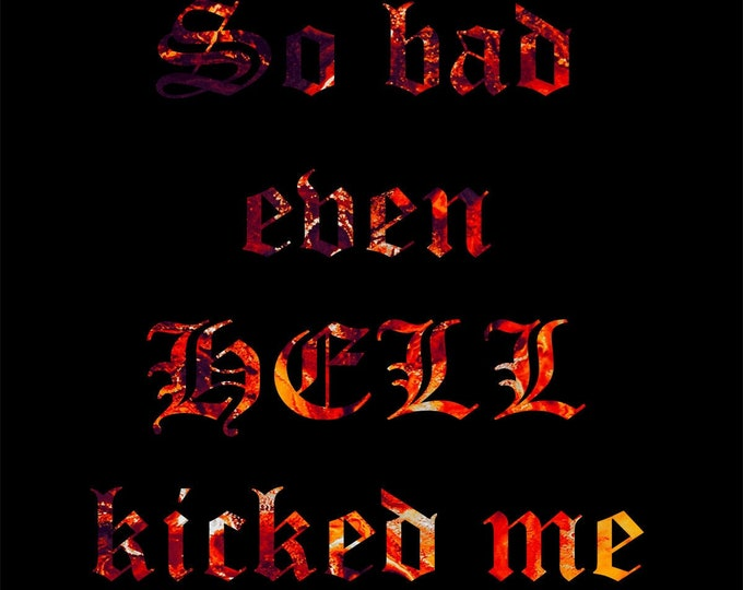 So bad even HELL kicked me out Downloadable Art Print Hand Painted Abstract Liquid Fluid Flow Art Dirty Pour Multiple File Sizes JPEG Files
